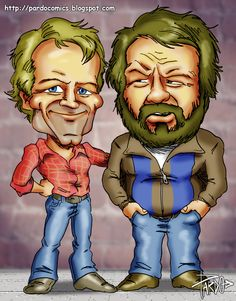 pic new posts: Wallpaper Bud Spencer Terence Hill Funny Caricatures, Celebrity Caricatures, Danny Glover, Mel Gibson, Bud Spencer Terence Hill, Retro Hits, Funny Cartoon Faces, Tammy Love, Black And White Cartoon