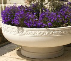 Romanesque Bowl Planter is heavily influenced by the Romanesque style with coin moulding motifs in a band geometrically running around the rim.