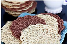 Pizzelles! haven't used my maker I got for  Christmas yet but getting inspired to do so!