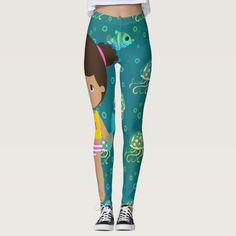 Discover Artistic leggings at Zazzle! Kawaii, Cute Leggings, Ocean Art, Graphic, Unique, Illustration, Modern, Artist, Pattern