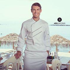 Chef by the Sea #chef #chefjacket #uniform #chefwhites #cheflife #cheflifestyle #cooks #work #worklife #AUchef #arisuniforms #workinstyle