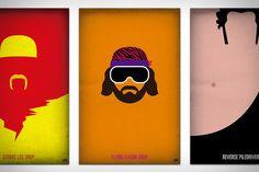 WWF Legends Minimalist Posters by Bernie Gross