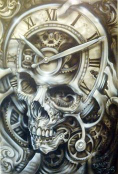 Tattoo inspiration... Skull #skulltattoo #time
