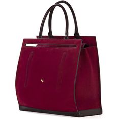 Cambiaghi Totes (€1.385) ❤ liked on Polyvore featuring bags, handbags, tote bags, totes, leather handbags, purple tote, leather purse, purple tote bag and purple leather purse