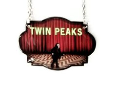 Twin Peaks Necklace David Lynch Red and Black Movie Statement Jewelry. $24.00, via Etsy.