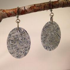 Metal earrings, handmade earrings, embossed metal earrings, distressed earrings, oxidized metal earrings by ShopSimplyDistressed on Etsy