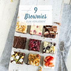 Die besten Brownies, die du je gegessen hast: 1 Grundrezept, 9 Varianten – für jeden Tag eine. Und für Samstag und Sonntag zwei …