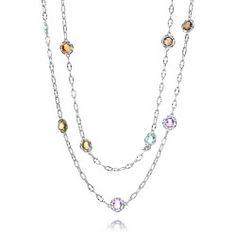 Tacori 18K925 - 18K & Sterling Gemstone Necklace