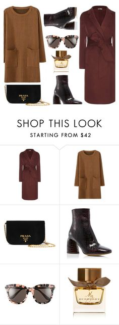 """""""Sweater Dress"""" by lidia-solymosi ❤ liked on Polyvore featuring Bottega Veneta, Prada, E L L E R Y, Gentle Monster and Burberry"""