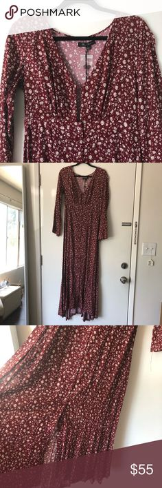 LULU'S // floral maxi brand new, never worn, with tags. Lulu's Dresses Maxi