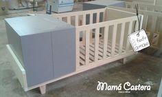 Cuna funcional Mamá Castora 4 funciones - moises - cuna - cama hasta 4 años - cama 1 plaza