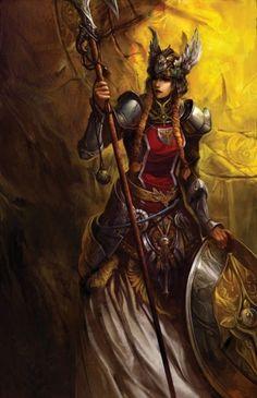 Fantasy.  Viking Warrior Maiden.