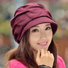 Princess rabbit hat female winter autumn and winter fashion Korean tidal may Aibei Lei elegant octagonal cap hat fashion hats