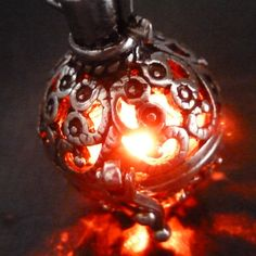 ♥~♥~♥ MAGICAL necklace you will fall in love with !    Great gift for everyone even yourself !♥~♥~♥ Steampunk FIRE necklace pendant charm