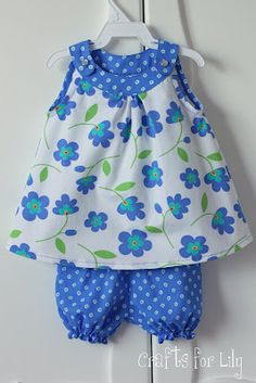 This is so cute! Love this pattern!   cute little girl clothes to sew
