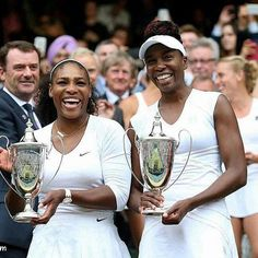 Im here for ALL this #blackgirlmagic @Regrann from @becauseofthem -  Wait! There's more good news for the Williams family, as Venus and Serena also won their sixth Wimbledon doubles title today!  The win marks their 14th major doubles title together. Now, the two have their sights set on the Olympics, where they will be going for a record fourth doubles Gold.  Way to go, ladies! Thank you both for being an inspiration to us all.  #becauseofthemwecan #blackgirlmagic #Regrann