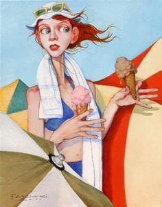 FRED CALLERI - peintre Américain - La Palette et le Rêve.....