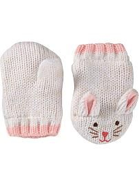 Critter Sweater Mittens for Baby