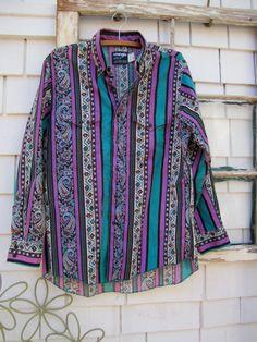 Wrangler Western Shirt Santa Fe Bold style 80s by LarrysLoot
