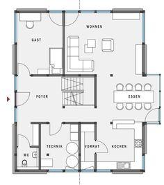 One of the best setups for us, even if too big: Modulhaus / modern / mit 2 Ebenen - MODUM : 8:10 - Huf Haus - Videos