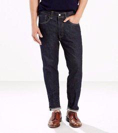 Levi's 501® CT men jeans 181730071 Rigid red line selvedge denim 100% Cotton #Levis #ClassicStraightLeg