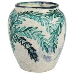 Art Deco Pottery Vase by Max Laeuger for Tonwerke Kandern, 1920s | From a unique collection of antique and modern vases and vessels at https://www.1stdibs.com/furniture/decorative-objects/vases-vessels/