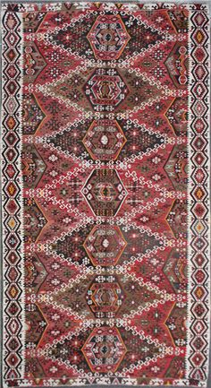 Antique Turkish Kayseri Kilim Rugs, View one of the most comprehensive collections of Turkish Kilim Rugs, Handmade Traditional Kilim Rugs. Kilims, Turkish Kilim Rugs, Carpets, Bohemian Rug, Traditional, Antiques, Handmade, Decor, Farmhouse Rugs