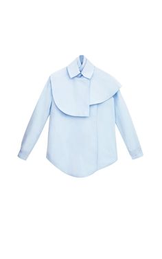Shop Cape Shirting Blouse by A.W.A.K.E for Preorder on Moda Operandi