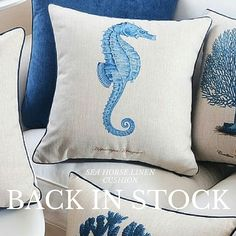 Hamptons House, The Hamptons, Home Furniture, Cushions, Horses, Throw Pillows, Toss Pillows, Toss Pillows, Home Goods Furniture