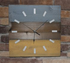 Rustic wood clock, shabby chic or costal decor for home or office. $25.00, via Etsy.