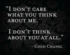 - Coco Chanel  Die zit :-)