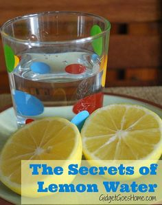The secrets of lemon water- the why and how to this daily wellness practice. #homemadesparecipe #spa #recipes #beauty