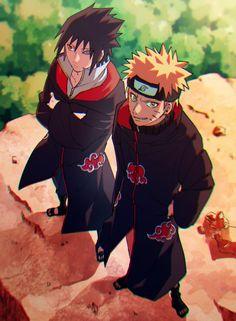 Naruto sasuke in akatsuki Naruto Uzumaki Shippuden, Naruto Shippuden Sasuke, Naruto Kakashi, Naruto Comic, Anime Naruto, Sasuke Akatsuki, Naruto Cute, Sasunaru, Narusasu