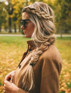 Messy Braided Hairstyle