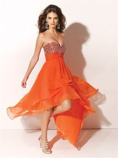 Sexy High-low Floor Length with Beadings Prom Dress PD10074 www.dresseshouse.co.uk $112.0000