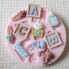 ABC BABY Silicone Mold Fondant Molds Sugar Craft Tools Chocolate Mould For Cakes – USD $ 7.99