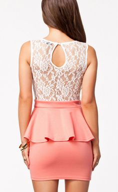 Party Princess Sexy Peplum Dress - Stella La Moda