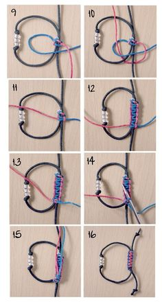 Tying a sliding knot is a little tricky, but it's a great technique to add to your bag of tricks! – how to tie a sliding knot – jewelry making – DIY jewelry Jewelry Knots, Bracelet Knots, Bracelet Crafts, Wire Jewelry, Jewelry Crafts, Handmade Jewelry, Knots For Bracelets, Crochet Bracelet, Bracelet Wrap