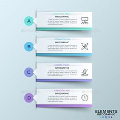 Modern Infographic Ribbons Template PSD, Vector EPS, AI Illustrator