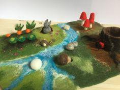 #playmat #waldorf #nurseryart #seasontable #nemez #felting #playscape #feltart #nemezeles #natureinspired #wool #woolscape #mushrooms #carrots