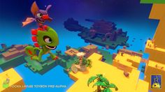 """Playtonic Games has announced new details for their upcoming 3D platform game Yooka-Laylee, including a """"Toybox"""" demo headed to PC in July. Playstation, Ps4, Fun Video Games, Video Game News, Banjo, Wii U, Donkey Kong Country, Nintendo Eshop, Xbox One Pc"""