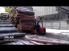 The #Forklift and The Log Pile