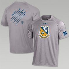 659ba3c7792 2017 RIVALRY NAVY UNDER ARMOUR BLUE ANGELS LOGO T-SHIRT (GREY) Navy Football