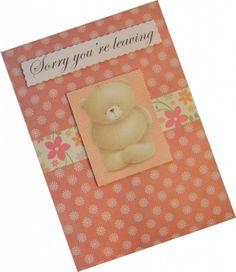 Handmade Sorry Youre Leaving Card - Personalised