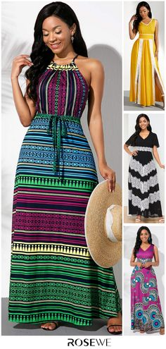 65% OFF 🔥🤗 Find out which Reformation dress all the celebrities are already wearing for summer on Rosewe. Lovely Dresses, Stylish Dresses, Women's Fashion Dresses, African Fashion, Indian Fashion, Womens Fashion, Dress Indian Style, Striped Maxi Dresses, Designer Dresses