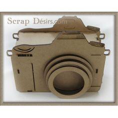 Magnifique boitage appareil à photo en bois medium 3 mm pouvant recevoir un mini 16cm x 11 cm dim ext/ 19cm x 15cm