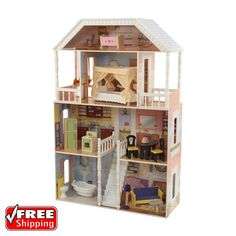 Barbie Size Dollhouse Furniture Girls Playhouse Dream Play Wooden Doll House | Dolls & Bears, Dolls, Barbie Contemporary (1973-Now) | eBay!