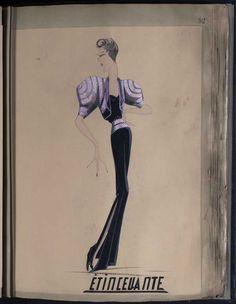 Robe Etincellante, Paris 1939, copyright Patrimoine Lanvin #JeanneLanvin #Lanvin