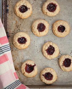 Almond-Cherry Thumbprint Cookies