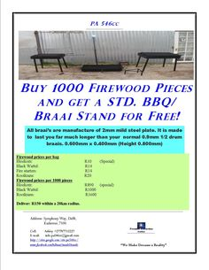 Specials has now started d. Bbq Stand, It's Now Or Never, Steel Plate